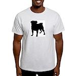 Pug Silhouette Light T-Shirt