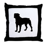Rottweiler Silhouette Throw Pillow