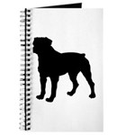 Rottweiler Silhouette Journal