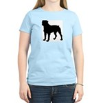 Rottweiler Silhouette Women's Light T-Shirt
