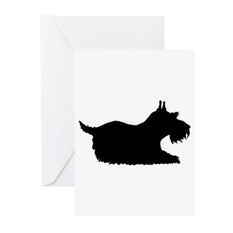 Schnauzer Silhouette Greeting Cards (Pk of 20)