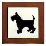 Scottish Terrier Silhouette Framed Tile
