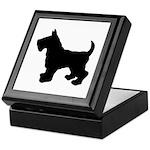 Scottish Terrier Silhouette Keepsake Box