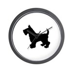 Scottish Terrier Silhouette Wall Clock
