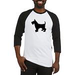 Scottish Terrier Silhouette Baseball Jersey