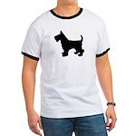 Scottish Terrier Silhouette Ringer T