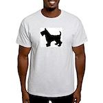 Scottish Terrier Silhouette Light T-Shirt