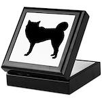 Siberian Husky Silhouette Keepsake Box