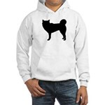 Siberian Husky Silhouette Hooded Sweatshirt