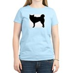 Siberian Husky Silhouette Women's Light T-Shirt