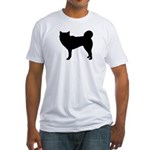 Siberian Husky Silhouette Fitted T-Shirt