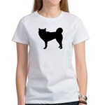 Siberian Husky Silhouette Women's T-Shirt