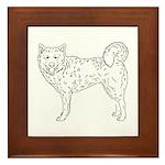Siberian Husky Outline Framed Tile