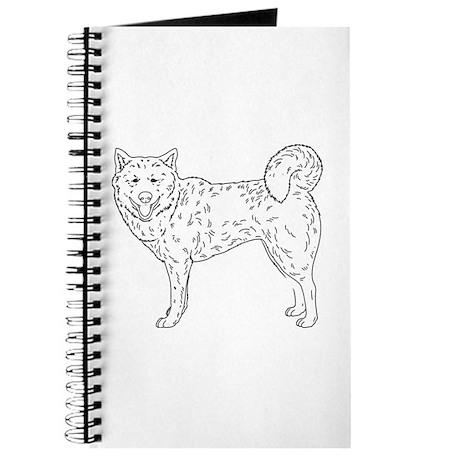 Siberian Husky Outline Journal By Showyourshirt