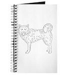 Siberian Husky Outline Journal