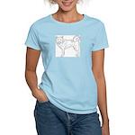 Siberian Husky Outline Women's Light T-Shirt