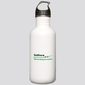 Golfers Stay on Course Stainless Water Bottle 1.0L