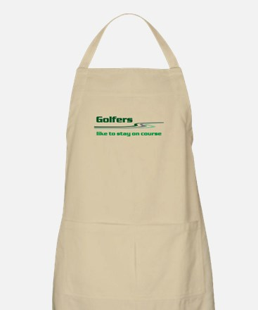 Golfers Stay on Course Apron