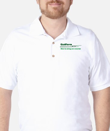 Golfers Stay on Course Golf Shirt