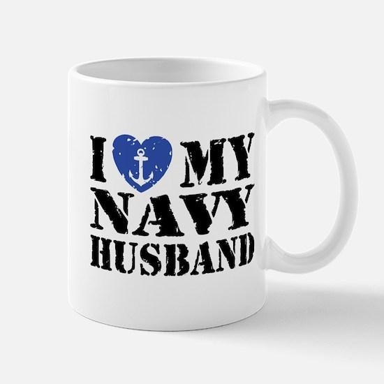 I Love My Navy Husband Mug