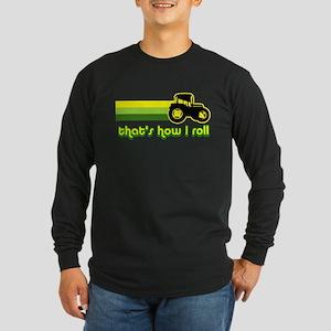 Tractor Rollin' Long Sleeve Dark T-Shirt