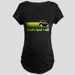 Tractor Rollin' Maternity Dark T-Shirt