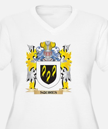 Squires Family Crest - Coat of A Plus Size T-Shirt