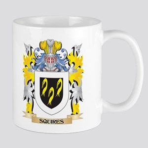 Squires Family Crest - Coat of Arms Mugs