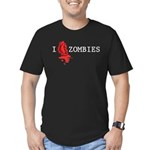 I love ZOMBIES Men's Fitted T-Shirt (dark)