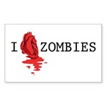 I love ZOMBIES Sticker (Rectangle 10 pk)