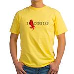 I love ZOMBIES Yellow T-Shirt