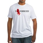 I love ZOMBIES Fitted T-Shirt