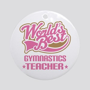 Gymnastics Teacher Ornament (Round)