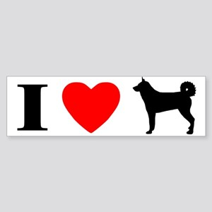 I Love Karelian Bear Dogs Bumper Sticker