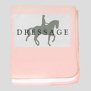 Piaffe w/ Dressage Text baby blanket