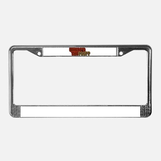 Unique Barney License Plate Frame