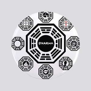 """Dharma Stations 3.5"""" Button"""
