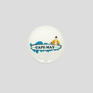 Cape May NJ - Surf Design Mini Button