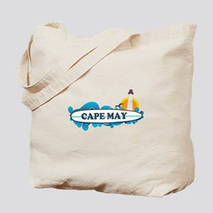 Cape May NJ - Surf Design Tote Bag