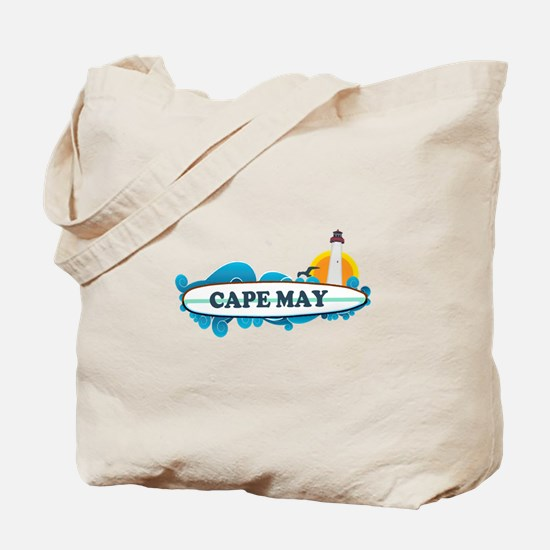 Cape May NJ - Surf Design Tote Bag