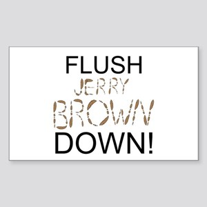 Flush Brown Sticker (Rectangle 10 pk)