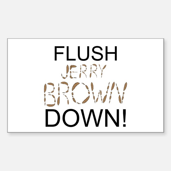 Flush Brown Sticker (Rectangle 10 pk)