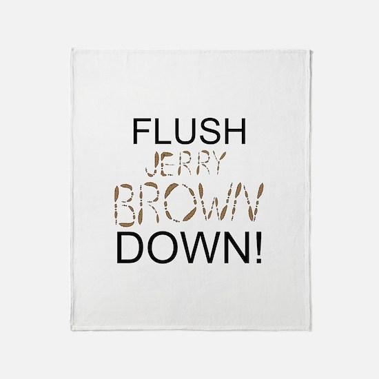 Flush Brown Throw Blanket