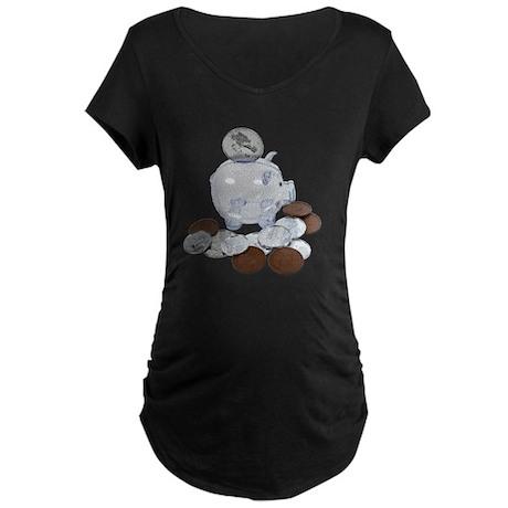 Big Savings Bank Maternity Dark T-Shirt