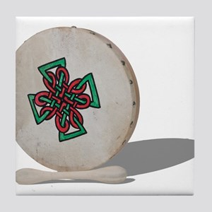 Bodhran Drum Tile Coaster