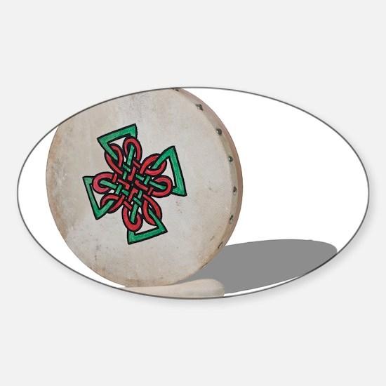 Bodhran Drum Sticker (Oval)
