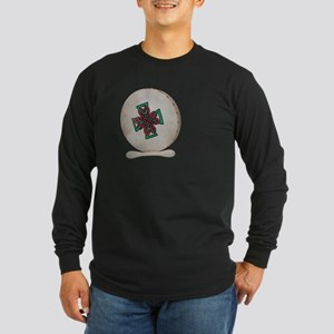 Bodhran Drum Long Sleeve Dark T-Shirt