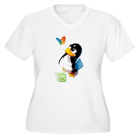 Tux Swat-Mint Women's Plus Size V-Neck T-Shirt