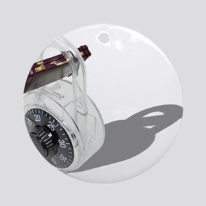 Business Security Secured Ornament (Round)