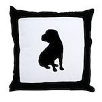 Shar Pei Silhouette Throw Pillow